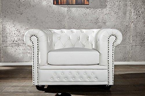 dunord design sessel chesterfield weiss kunstleder england look design polstersessel m bel24. Black Bedroom Furniture Sets. Home Design Ideas