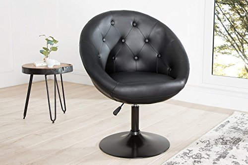 DuNord Design Sessel Drehstuhl NIZZA schwarz Tulpenfuss schwarz Retro Design Drehsessel
