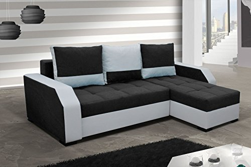 ecksofa aris mit bettfunktion eckcouch schlaffunktion sofa couch m bel24 m bel g nstig. Black Bedroom Furniture Sets. Home Design Ideas