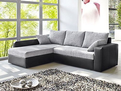 ecksofa vida 244x174cm grau schwarz couch sofa wohnlandschaft polsterecke m bel24 m bel g nstig. Black Bedroom Furniture Sets. Home Design Ideas