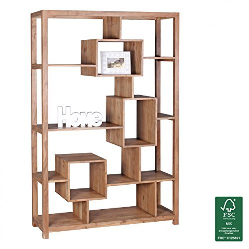 FineBuy Design Massivholz Bücherregal 115 x 40 x 180 cm