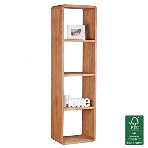 FineBuy Massivholz Bücherregal 50 x 35 x 180 cm Standregal