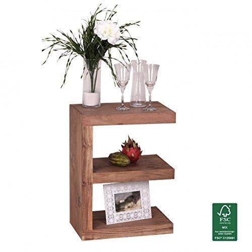 finebuy massivholz beistelltisch e cube 44x 30 x 60 cm mit ablage m bel24 m bel g nstig. Black Bedroom Furniture Sets. Home Design Ideas