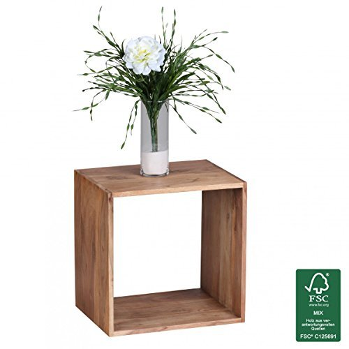 FineBuy Massivholz Cube Regal 43,5 x 43,5 x 33 cm Cube