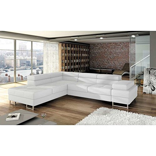 justyou tunis ecksofa eckcouch mit bettkasten schlafcouch kunstleder bxlxh 223x275x70 90 cm. Black Bedroom Furniture Sets. Home Design Ideas