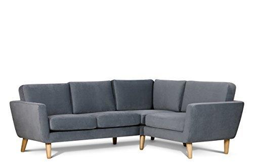 konsimo tagio ecksofa eckcouch eckgarnitur polsterecke rechts skandinavisch mikrofaser. Black Bedroom Furniture Sets. Home Design Ideas