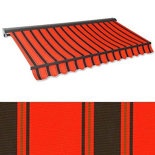 Kassetten Markise 3 X 2 5 M Orangerot Schwarz Profilfarbe