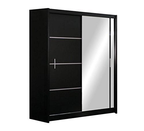 kleiderschrank vista schwebetrenschrank mit spiegel schiebetr elegantes schlafzimmerschrank. Black Bedroom Furniture Sets. Home Design Ideas