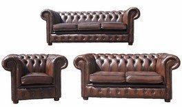 LEDERSOFA LEDER Sofa, 3, 2 und 1 sind