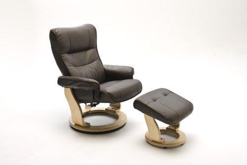 Leder relax sessel kington mit hocker 0 m bel24 m bel for Sessel mit hocker leder