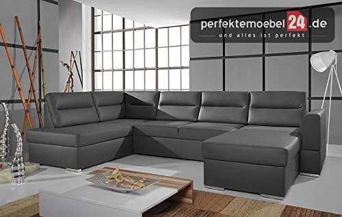 m bel24 m bel g nstig pm flou09 wohnlandschaft in u form mit schlaffunktion und stauraum. Black Bedroom Furniture Sets. Home Design Ideas