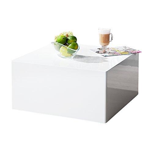 m bel24 m bel g nstig puristischer design couchtisch monobloc l wei hochglanz quadratisch. Black Bedroom Furniture Sets. Home Design Ideas