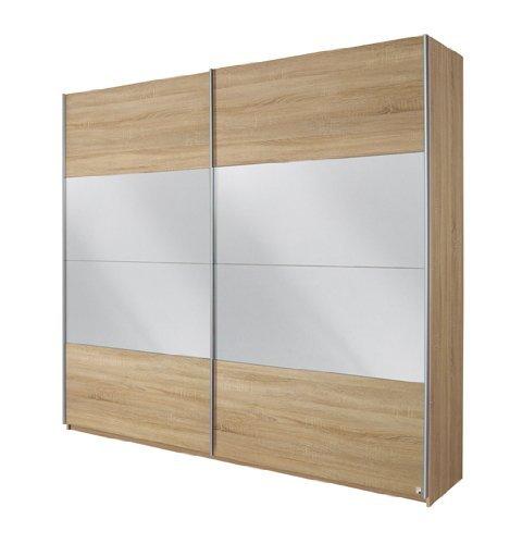 rauch schwebet renschrank quadra 2 t rig korpus front eiche sonoma abs spiegel m bel24. Black Bedroom Furniture Sets. Home Design Ideas