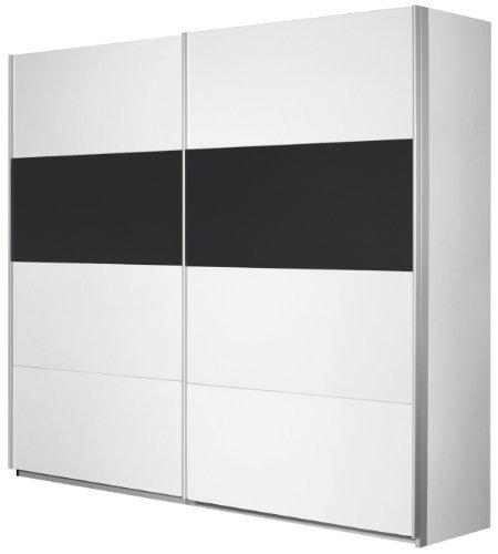 Rauch-V2012008-Schwebetrenschrank-Quadra-2-trig-B-226-H-210-T-62-cm-KorpusFront-alpinwei-Absetzungen-glas-schwarz-0