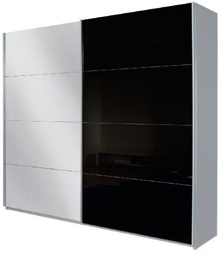 Rauch-V8713A001-Schwebetrenschrank-Quadra-2-trig-1-Spiegeltre-B-136-H-210-T-62-cm-Korpus-Alu-gebrstetFront-Glas-schwarz-spiegel-0