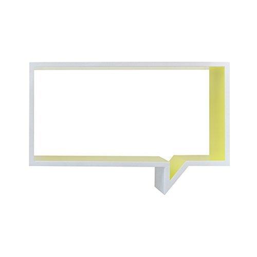 rebecca srl b cherregal wandregal holz 1 einlegebode gelb wei urban wohnzimmer schlafzimmer. Black Bedroom Furniture Sets. Home Design Ideas