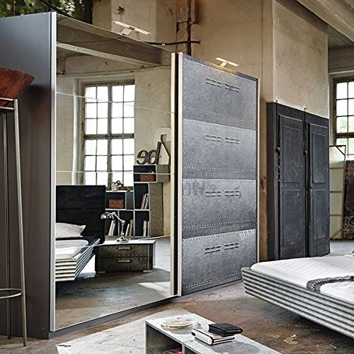 m bel24 m bel g nstig schwebet renschrank industrial optik b 136 cm schrank kleiderschrank. Black Bedroom Furniture Sets. Home Design Ideas
