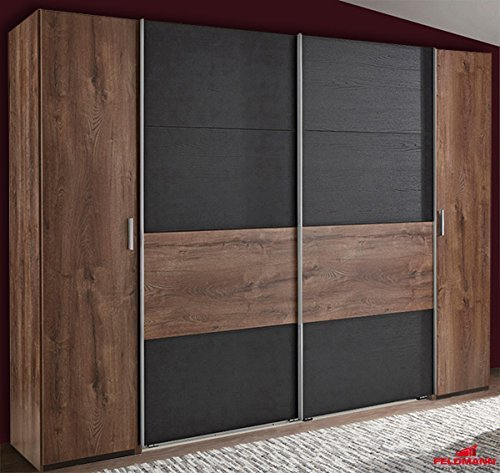 m bel24 m bel g nstig schwebet renschrank kleiderschrank 615909 schlammeiche schwarzeiche. Black Bedroom Furniture Sets. Home Design Ideas