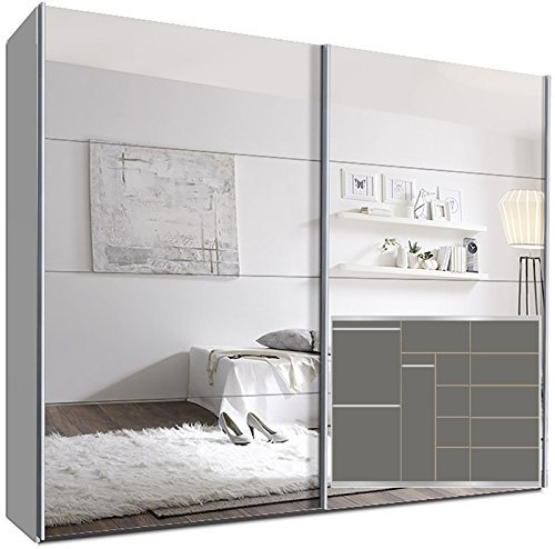 schwebet renschrank switchbox 270 cm wei mit spiegelt ren inkl zubeh r m bel24. Black Bedroom Furniture Sets. Home Design Ideas