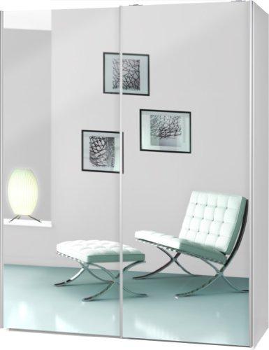 schwebet renschrank soft plus smart typ 43 150 x 194 x 61cm wei 2 x spiegel m bel24. Black Bedroom Furniture Sets. Home Design Ideas