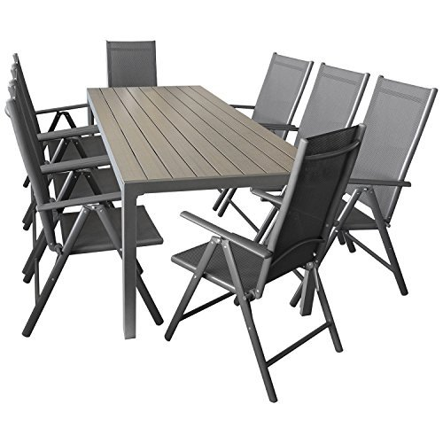 wohaga sitzgarnitur sitzgruppe gartengarnitur gartenm bel terrassenm bel set 9 teilig. Black Bedroom Furniture Sets. Home Design Ideas