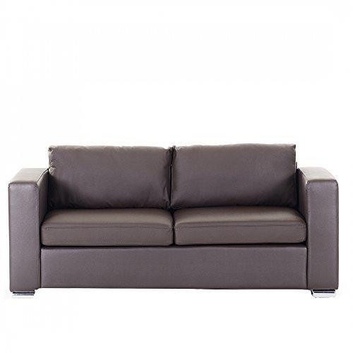 beliani 3 sitzer sofa leder braun helsinki m bel24. Black Bedroom Furniture Sets. Home Design Ideas