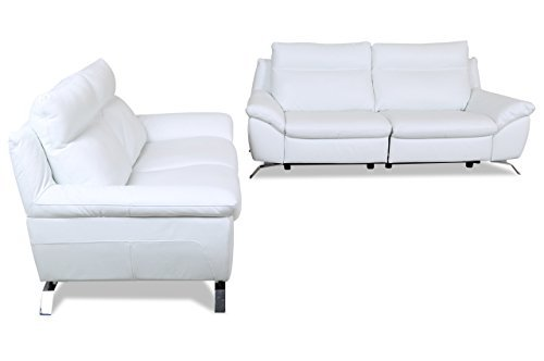 m bel24 sofa couch editions leder garnitur 3 2 z943 mit relax weiss mit federkern 0. Black Bedroom Furniture Sets. Home Design Ideas