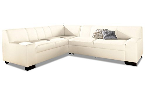 m bel24 sofa couch leder ecksofa xl norma weiss 0. Black Bedroom Furniture Sets. Home Design Ideas