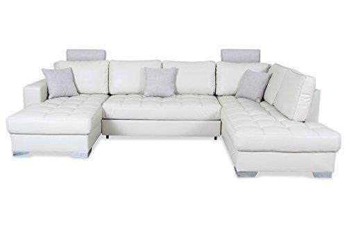 sofa couch wohnlandschaft arles mit schlaffunktion creme m bel24 m bel g nstig. Black Bedroom Furniture Sets. Home Design Ideas