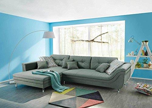 Sofa ecksofa sofaecke polsterecke eckcouch couchgarnitur for Sofaecke grau