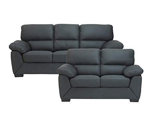 sofagruppe rica in grau 2 und 3 sitzer couchgarnitur couch m bel24. Black Bedroom Furniture Sets. Home Design Ideas
