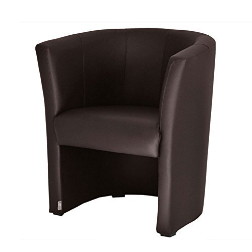 fortisline top sessel clubsessel loungesessel cocktailsessel kunstleder braun w042 02 m bel24. Black Bedroom Furniture Sets. Home Design Ideas