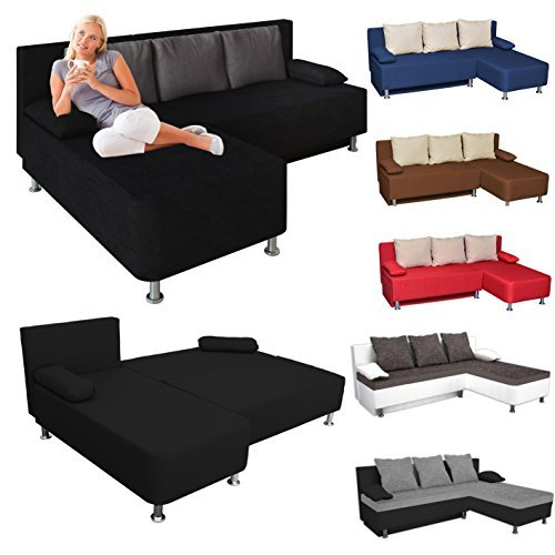 vcm ecksofa schlafsofa sofabett sofa couch mit schlaffunktion farbwahl m bel24. Black Bedroom Furniture Sets. Home Design Ideas