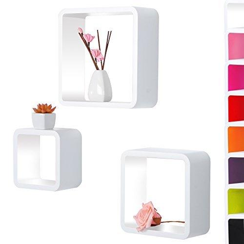 woltu 295 wandregal cubes mdf holz h ngeregal. Black Bedroom Furniture Sets. Home Design Ideas