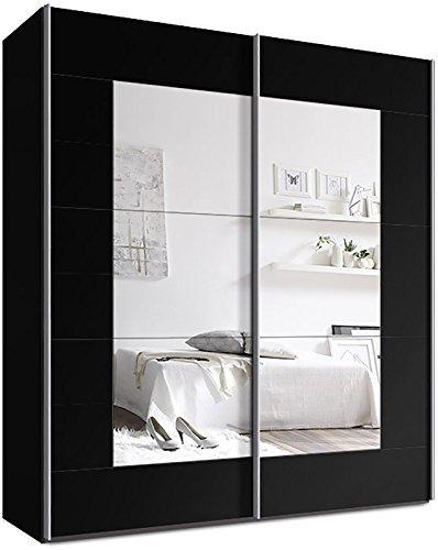 Webesto-Schwebetrenschrank-Kleiderschrank-ca-200-cm-Schwarz-mit-Spiegel-Qualitt-aus-Deutschland-0