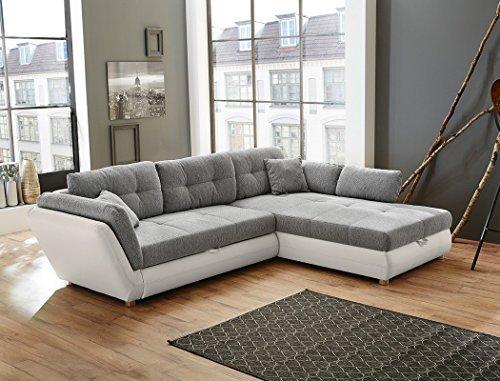 wohnlandschaft jacobo 297x207 cm grau wei funktionssofa. Black Bedroom Furniture Sets. Home Design Ideas