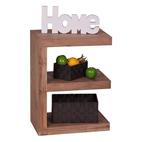 """Wohnling Massivholz Beistelltisch """"E"""" Cube 44x 30 x 60 cm mit Ablage"""