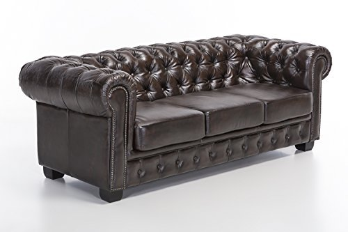 woodkings chesterfield sofa 3 sitzer braun vintage. Black Bedroom Furniture Sets. Home Design Ideas