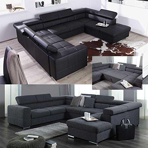 xxl wohnlandschaft couch cary u form versch farben und ausfhrungen 0. Black Bedroom Furniture Sets. Home Design Ideas