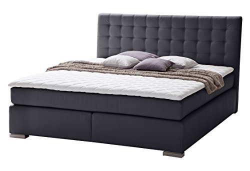 sette notti boxspringbett 180x200 schwarz boxspringbett mit kaltschaumtopper 7 cm 2 x 7 zonen. Black Bedroom Furniture Sets. Home Design Ideas