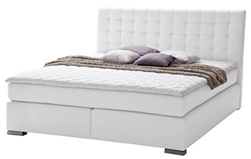 sette notti boxspringbett 160x200 cm schwarz kunstleder. Black Bedroom Furniture Sets. Home Design Ideas