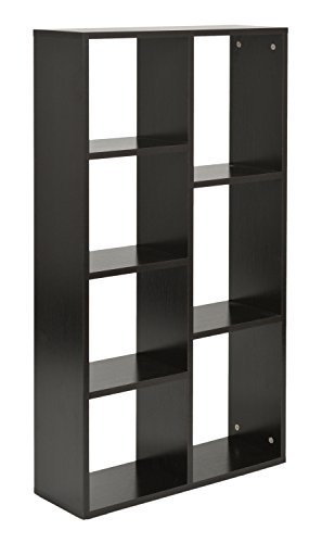 ts ideen design regal hochregal standregal aufbewahrung b cherregal cd regal ablage holz schwarz. Black Bedroom Furniture Sets. Home Design Ideas