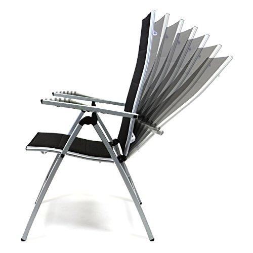 m bel24 nexos deluxe alu klappstuhl gepolstert schwarz. Black Bedroom Furniture Sets. Home Design Ideas