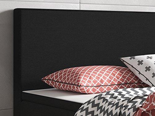 boxspringbett berlin 90 200 cm webstoff schwarz m bel24. Black Bedroom Furniture Sets. Home Design Ideas