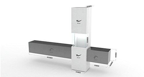 m bel24 wohnwand mediawand wohnzimmer schrank fernseh schrank tv lowboard wei. Black Bedroom Furniture Sets. Home Design Ideas