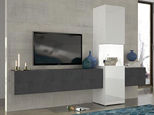 Wohnwand   Mediawand   Wohnzimmer-Schrank   Fernseh-Schrank   TV Lowboard    weiß Hochglanz   modern...