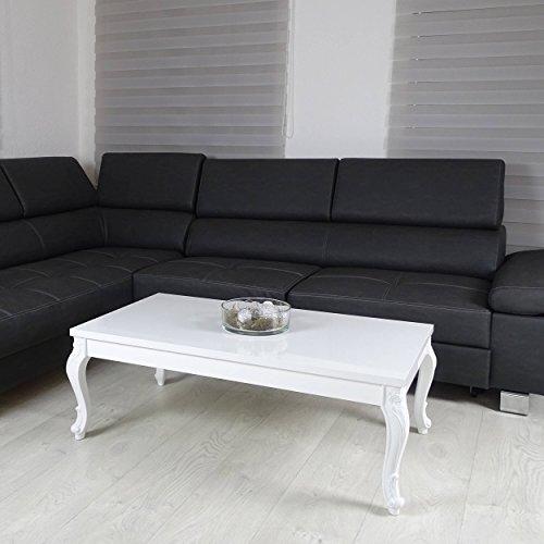 m bel24 m bel g nstig couchtisch 3 gren hochglanz wei lack blten tisch beistelltisch holz lack 0. Black Bedroom Furniture Sets. Home Design Ideas