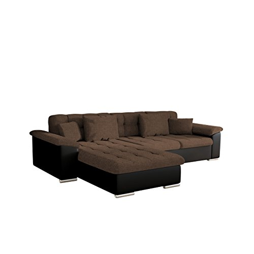design ecksofa diana dot eckcouch mit bettkasten und schlaffunktion elegante couch moderne. Black Bedroom Furniture Sets. Home Design Ideas