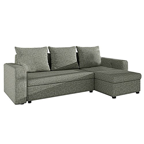 ecksofa top sale sofa eckcouch couch mit schlaffunktion und zwei bettkasten ottomane. Black Bedroom Furniture Sets. Home Design Ideas