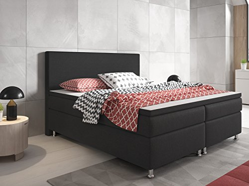 m bel24 m bel g nstig inter handels gmbh boxspringbett berlin 180x200 cm webstoff anthrazit 0. Black Bedroom Furniture Sets. Home Design Ideas